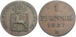 World Coins - GERMANY: Hannover 1837 B 1 Pfennig