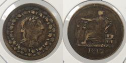 World Coins - CANADA: Lower Canada 1812 Blacksmith token. Halfpenny Token