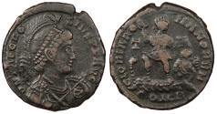 Ancient Coins - Theodosius I 379-395 A.D. AE2 Constantinople Mint VF