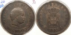 World Coins - INDIA: Portuguese Colonial 1903 1/2 Tanga