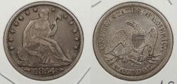 Us Coins - 1854-O Seated Liberty 50 Cents (Half Dollar)