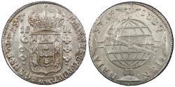 World Coins - BRAZIL 1816-B 960 Reis Choice AU