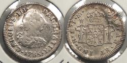 World Coins - MEXICO: Spanish Colonial 1785-Mo FM 1/2 Real
