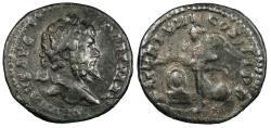 Ancient Coins - Septimius Severus 193-211 A.D. Limes Denarius Imitating Rome Mint VF