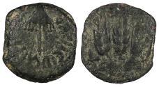 Ancient Coins - Judaea Herodian Dynasty Agrippa I 37-44 CE Prutah Fine