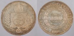 World Coins - BRAZIL: 1860/50 Overdate. 1000 Reis
