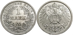 World Coins - GERMANY: 1906 D 1 Mark