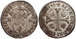 World Coins - FRANCE Henry III 1574-1589 Douzain (12 Deniers) 1588-C EF