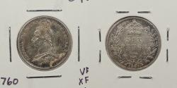 World Coins - GREAT BRITAIN: 1887 Victoria Sixpence