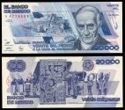 World Coins - MEXICO Banco de México 28 March 1989 20000 Pesos EF