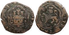 World Coins - SPAIN Cuenca Ferdinand & Isabella 1474-1504 4 Maravedis Good VF
