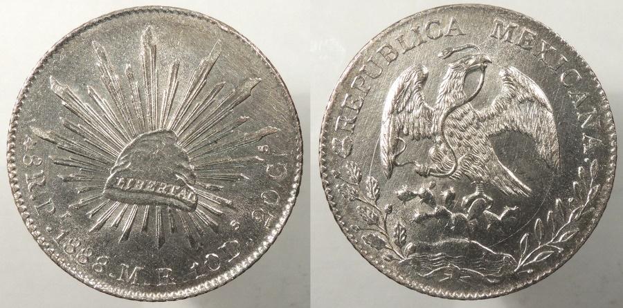 World Coins - MEXICO: San Luis Potosi 1888-Pi MR 8 Reales #WC63887