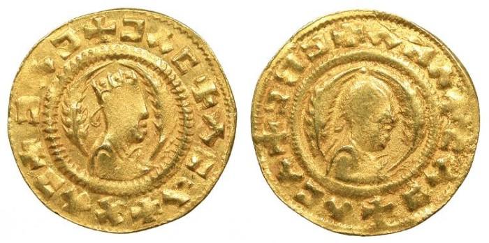 Ancient Coins - Christian Kings Ebana (Esbael or Esbana) Circa 440-470 AD Unit (Tremissis?) Superb EF