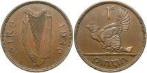 World Coins - IRELAND: 1940 1 Penny