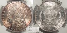 Us Coins - 1887 Morgan 1 Dollar (Silver) NGC MS-65