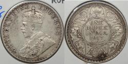World Coins - INDIA: 1917(b) George V Rupee