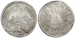 World Coins - MEXICO 1840-Zs OM 8 Reales Choice AU