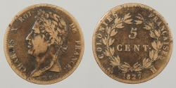 World Coins - FRENCH COLONIES: 1827-H 5 Centimes