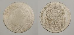 World Coins - AUSTRIA: 1772-C 20 Kreuzer