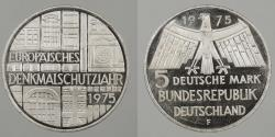 World Coins - GERMANY: West Germany 1975-F Proof 5 Mark