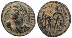 Ancient Coins - Constans 337-350 A.D. AE2 Cyzicus Mint Good VF