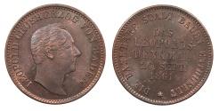 World Coins - GERMAN STATES Baden Friedrich I, Grand Duke 1861 Kreuzer BU