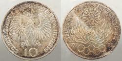 World Coins - GERMANY (WEST): 1972-F Munich Olympics 10 Marks