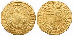 World Coins - GERMAN STATES Cologne (Köln) Archbishopric Friedrich III 1371-1414 Goldgulden Ca. 1402 Choice EF