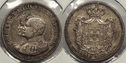World Coins - PORTUGAL: 1908 Carlos and Amelia 1889-1908 medalet 10mm Medal
