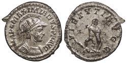 Ancient Coins - Maximianus 286-305 A.D. Antoninianus Lugdunum Mint Choice EF
