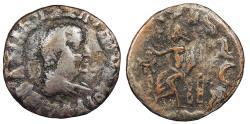Ancient Coins - Kings of Baktria Hermaios 90-70 B.C. Fourée Drachm Fine