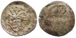 World Coins - GERMAN STATES Pfalz-Zweibrucken  Wolfgang 1532-1569 Schüsselpfennig ('bowl' Pfennig)   EF