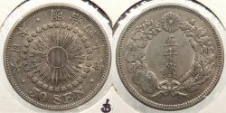 World Coins - JAPAN: 1907 50 Sen