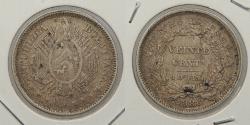 World Coins - BOLIVIA: 1888 20 Centavos