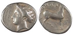 Ancient Coins - Thessaly Larissa c. 380-370 B.C. Drachm VF
