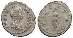 Ancient Coins - Julia Domna, wife of Septimius Severus 196-211 A.D. Denarius Rome Mint VF