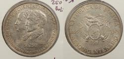 World Coins - BOLIVIA: 1975 Sesquicentennial. 250 Pesos Bolivianos