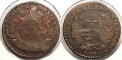 World Coins - MEXICO: San Luis de Potosi 1862 Very low mintage. 1/4 Real