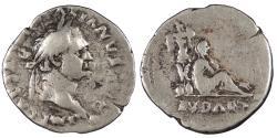 Ancient Coins - Vespasian 69-79 A.D. Denarius Rome Mint Good Fine