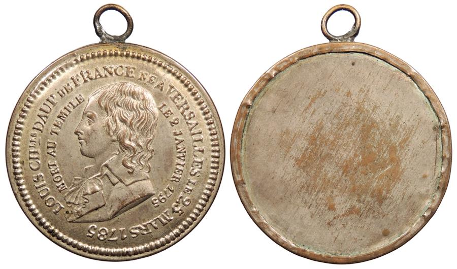 World Coins - FRANCE 1795 Silvered copper 35mm Medal w/loop AU/UNC