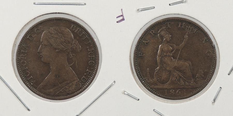 World Coins - GREAT BRITAIN: 1861 Farthing