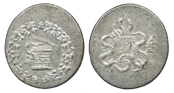 Ancient Coins - Ionia Ephesos 189-133 B.C. Cistophoric Tetradrachm EF