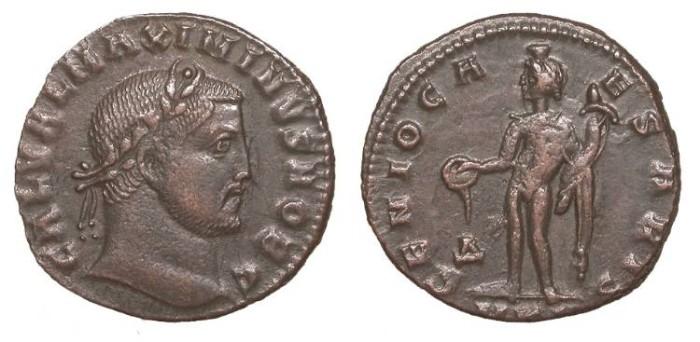 Ancient Coins - Maximinus II, as Caesar 305-308 A.D. Follis Cyzicus Mint Good VF