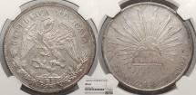 World Coins - MEXICO 1902-Zs FZ Peso NGC MS-62
