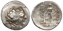 Ancient Coins - Eastern Europe Imitating Thasos, Island off Thrace Late 2nd - 1st Centuries B.C. Tetradrachm Near VF