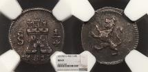 World Coins - CHILE Ferdinand VII 1817-So 1/4 Real NGC MS-63