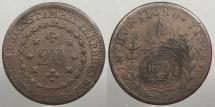 World Coins - BRAZIL: 1830-R 20 Reis