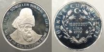 World Coins - TURKEY: 2002 Sterling commemorative proof 10,000,000 Liara