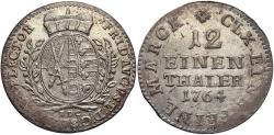 World Coins - GERMAN STATES: Saxony 1764-EDC 1/12 Thaler