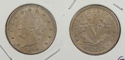 Us Coins - 1890 Liberty Head 5 Cent (Nickel)
